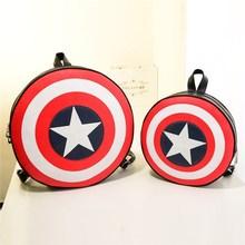 A199 Fashion Captain America Shield women men leather shoulder bag
