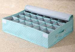 Foldable underwear bra storage organizer box with Lid
