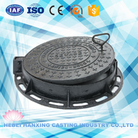 Man Hole Ductile Gray Iron Manhole Cover Frame Heavy Duty Frame Cover Casting