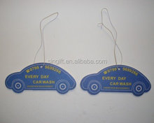 2015 new car scent hanging paper car air freshener with car shape
