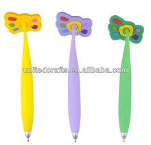 slim plastic flower ball pen gift ball pen