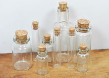 OEM cork art synthetic glass 250ml cork round glass bottle with cork