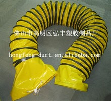 pvc heat retardant and large diameter flexible duct from chinese supplier/