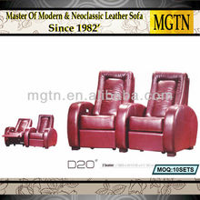 Modern Recliner Sofa Design Imported Leather Reclining sofa set D20