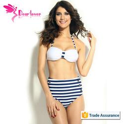 2014 Wholesale Fashion Sex Womens Retro High Waist Bikini