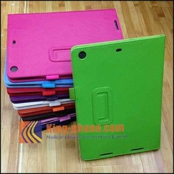 Factory wholesale flip leather cover for ipad 5,colorful PU leather case for ipad air
