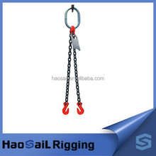 Grade 80 Chain Sling Double Leg with Grab Hooks