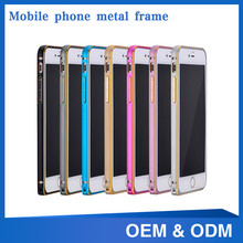 New design camera protecting mobile phone metal bumper case for iphone 6