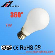 CE ROHS Factory sale A60 BIG ANGLE 360 E27 LED BULB LIGHT