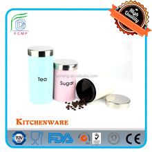 FDA testing cookie jar -- mirror s/s lid and body in orange powder coating
