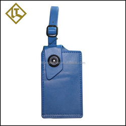 The most popular leather flap button luggage tag stitch