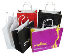 China supplier brown kraft paper bags/custom paper bag with handle