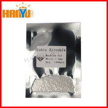 MOQ 1000pcs shining round brilliant cut 1.4mm small white cubic zirconia
