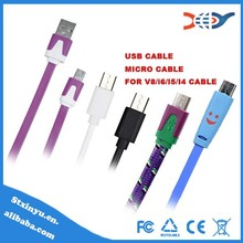 2014 BEST SELLING Fashionable Colorful Micro USB Cable for Iphone 5