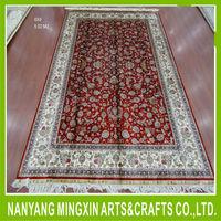 A19 carpet of flowers persian silk carpet hand made pure silk carpet iran rugs