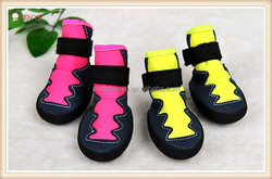 High quality Durable large dog shoes dog boots with rubber sole