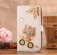 luxury wallet hello kitty case for galaxy s6, DIY phone case for samsung galaxy s6