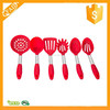 Heat and Slip Resistant Varying Colors 6-Piece Silicone & Stainless Steel Cooking Kitchen Utensil Set