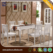 Classical wooden dining room furniture set, European style dining set, dining table and chair