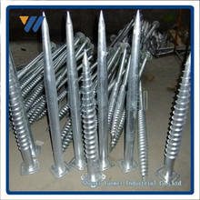 Ground Screw Anchor with Flange for Solar Mounting (Factory with ISO Certificate)