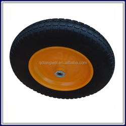 high quality with metal rim pu rubber caster wheel