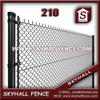 High Quality Green Pvc Coated Galvanized Chain Link Fence(professional Factory)