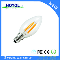 For Meeting Room High Performance 110 Volt E14 C35 4W LED Filament Lamp