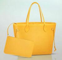 2015 new arrival nice quality yellow epi leather bag handbags cheap,fashion handbag dropship