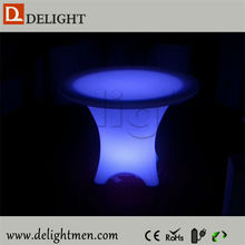 Outdoor furniture hot sale luminous rechargeable color changing remote control illuminated led model dining table