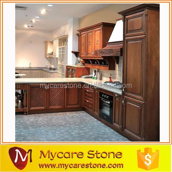 Pre assemble kitchen cabinet on sale oak pvc mfc lacquer cabinets