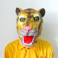 Alibaba Express Fancy Dress Ideal Classic Cosplay Rubber Realistic Tiger Mask
