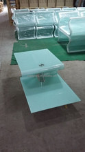 new hot bending white glass table