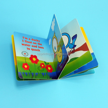 Perfect double-page spread children funny story board book printing