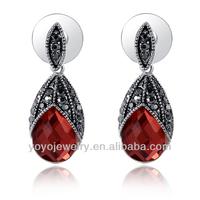 18k austrian crystal beautiful design sdubai gold jewelry earring for women