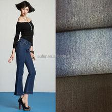 396 slubby yarn spandex denim cloth cotton polyester fabric for jeans