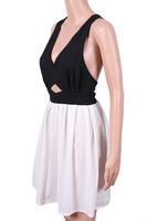 новые летние женщины платье спагетти бантом сексуальные платья повседневные платья vestido чисто Плиссированные шифоновое платье с открытой спиной