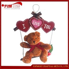 hot sale valentine's day cute teddy bear with heart I love u