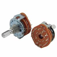 Split Shaft AC 125V 0.3A 250V 0.6A 2 Pole 6 Positions Rotary Switch