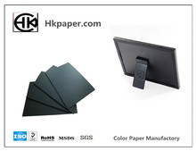high class Full Wood Pulp black paper box for photo albums