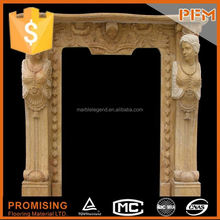 China Golden Supplier of stone fireplace surround fire place mantel sandstone fireplaces mantelpieces