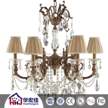 big crystal material spare parts chandelier lamp lighting with replacement glass