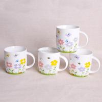 ceramic manufacturer advertizing white mug