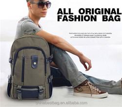 2015 Wholesale canvas backpack fashion travelling backpack