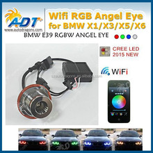 Xenon Headlight Wifi RGB remote Multi-Color LED Angel Eye Kit for BMW 1/3/6/X5 WIFI Phone Control Car LED Bulb