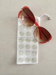 2015 Print LOGO Cheap Promotional Microfiber soft Sunglass pouch handmade