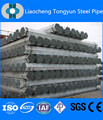 Construção material astm a53 cronograma 40 tubulação de aço galvanizado, gi tubos de aço de revestimento zn 60-400g/m2 com alta qualidade