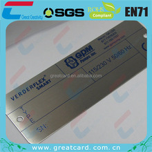 Stainless Steel Specification Tag With Customized Printing