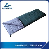 1300g High-quality Portable Hiking Cotton Envelop Sleeping Bag With Flannel Lining For Cold Weather