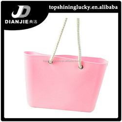 Bag women trend 2015 beach fashion candy color rubber silicone handbags