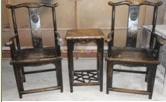 Muebles antiguos chinos silla y mesa
